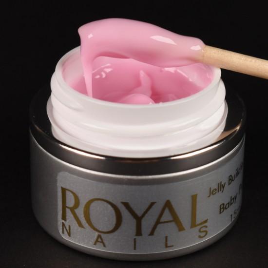 Maskuojantis gelis želė Royal Nails Jelly Building Baby Pink