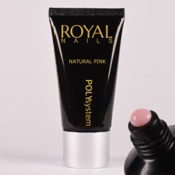 Rožinio atspalvio poly gelis Royal Nails Poly System Natural Pink