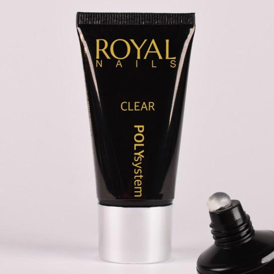 Skaidrus poly gelis Royal Nails Poly System Clear