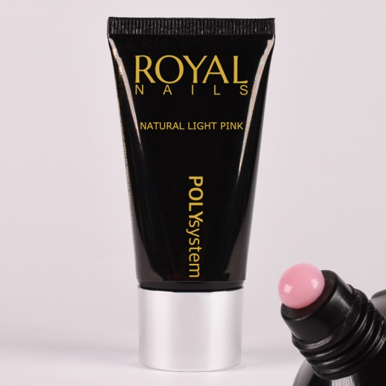 Šviesiai rožinio atspalvio poly gelis Royal Nails Poly System Natural Light Pink