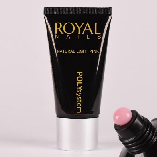 Šviesiai rožinio atspalvio poly gelis Royal Nails Poly System Natural Light Pink