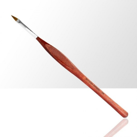 Teptukas akrilui su patogia ruda medine rankena