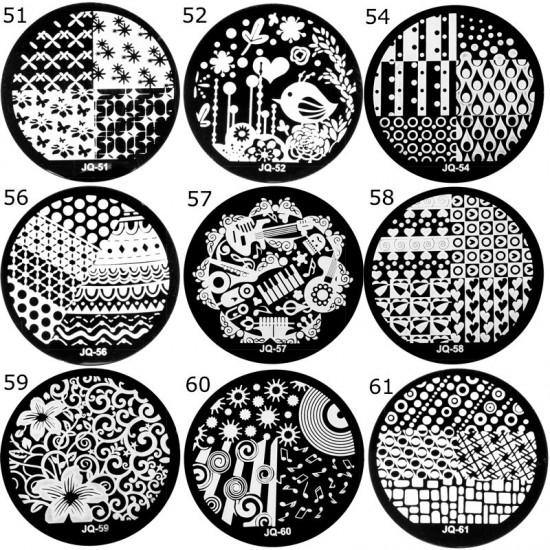 Antspaudų plokštelės nagų dailei 5 cm