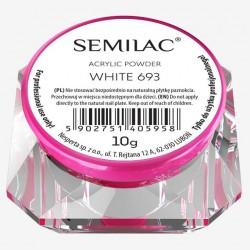 Baltos spalvos akrilo pudra Semilac Acrylic Powder White