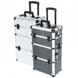 Dviejų dalių kosmetinis lagaminas su ratukais