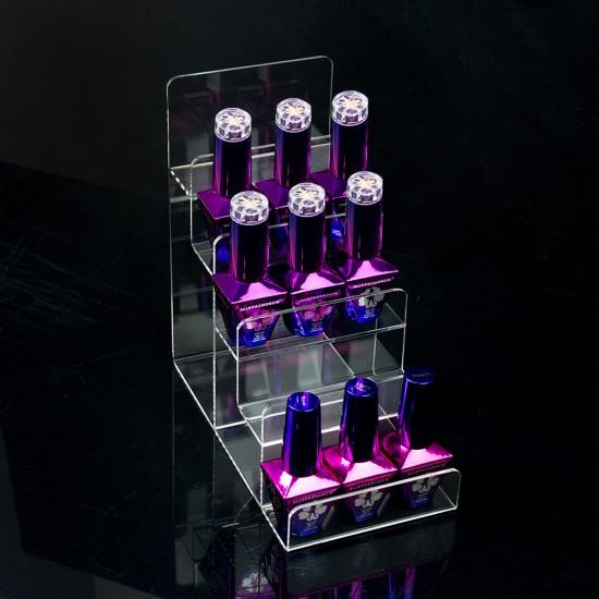 Ekspozicinis stovelis nagų lako buteliukams mažas