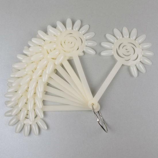 Gėlytės formos paletė nagų dailės pavyzdžiams 10x12