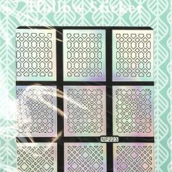 Holografinis vinilinis lipdukas-šablonas nagų dailei