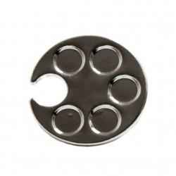 Metalo žiedas-indelis spalvų maišymui