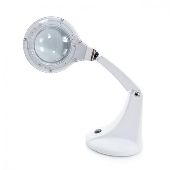 Pastatomas LED stalo šviestuvas su didinamuoju stiklu