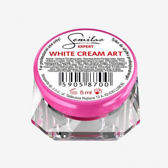 Semilac UV gelis Expert White Cream Art