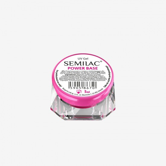 Semilac UV gelis Power Base indelyje