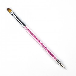 Teptukas ir taškuoklis su rožiniu cirkoniu rankenėlėje