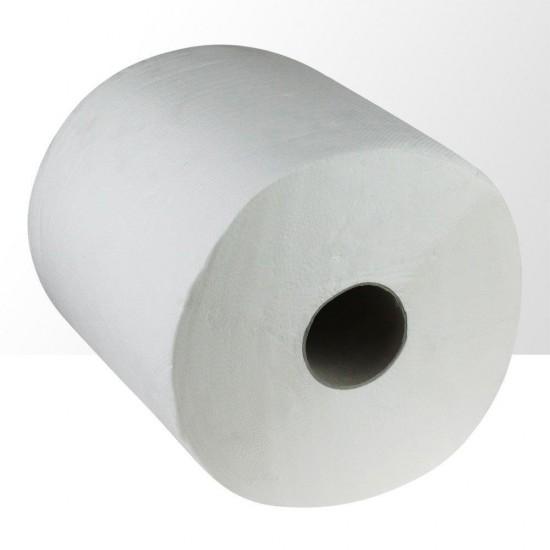 Didelis vienkartinių celiuliozės rankšluosčių ritinys