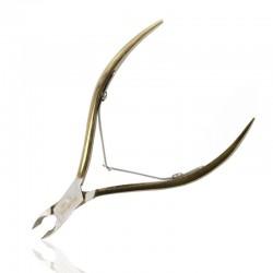 Žnyplutės nagų odelėms chirurginio plieno auksinės TW-027